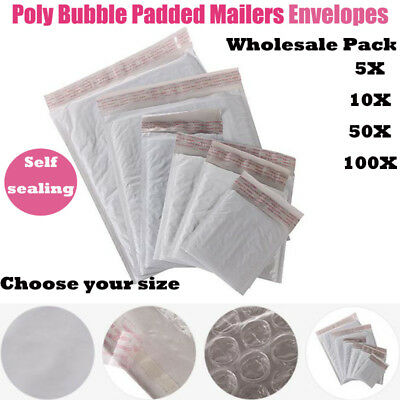 $ CDN18.78 • Buy FREE SHIPPING 5/20/50/100Pcs Poly Bubble Mailers Padded Envelopes Bags