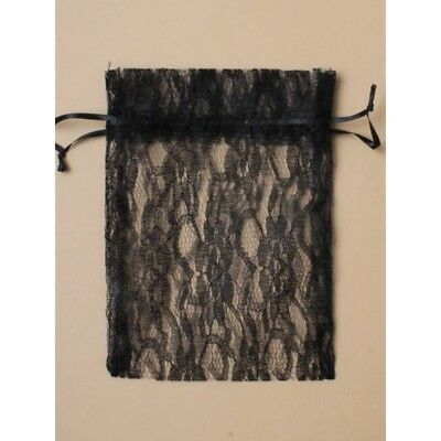 NEW 12 Black Lace Favour Bags Wedding Party Confectionary 22x15cm • 4.99£