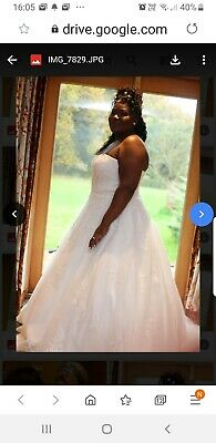 Bellami Wed2be Wedding Dress And Jacket Size 22 • 500£