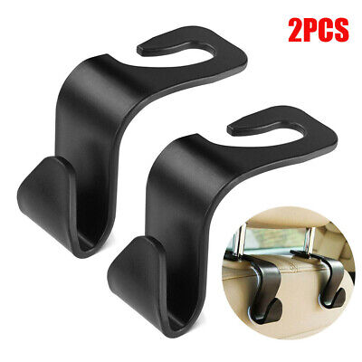 $2.17 • Buy 2X Black Car Seat Hook Purse Bag Hanger Bag Organizer Holder Clip Accessories