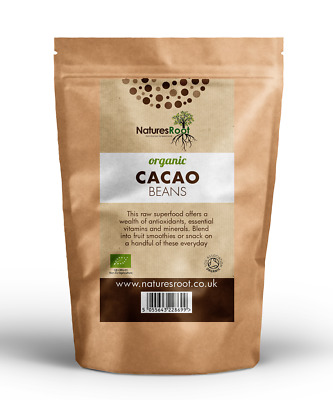£4.99 • Buy Organic Raw Cacao Beans - Peruvian Criollo Variety | Premium  | Select Pack Size