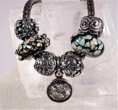 $199.95 • Buy Sterling Silver LAA Trollbead Necklace With 7 Charms & Clasp