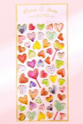HEART STICKERS Glitter Crystal 3D Craft Scrapbook Cards Love Hearts Decoration  • 1.99£