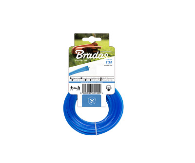 HEAVY DUTY STRIMMER LINE 2.4mm X 15M  FOR PETROL STRIMMERS STRIMMER WIRE CORD • 3.79£