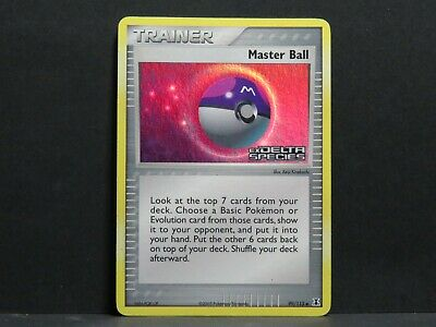 Master Ball 99/113 - Holo Ex Delta Species Pokemon Card (Light Played) • 3.58£