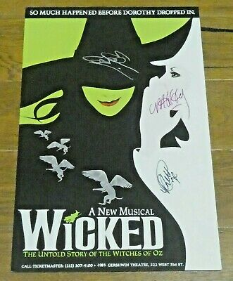 Wicked Signed Broadway Window Card Poster 14 X22  • 86.91£