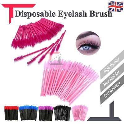 Disposable Eyelash Brush Eyebrow Mascara Wands Spoolie Brush Cosmetic Brush Kit • 3.68£