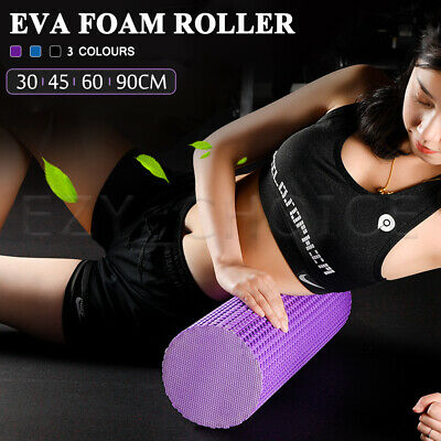 AU17.99 • Buy EVA Yoga Foam Roller Physio Back Training Pilates GYM Home Back Exercise Massage