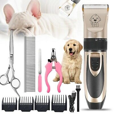 Cordless Electric Pet Dog Cats Grooming Clippers Low Noise Shaver Trimmer Kit UK • 13.69£