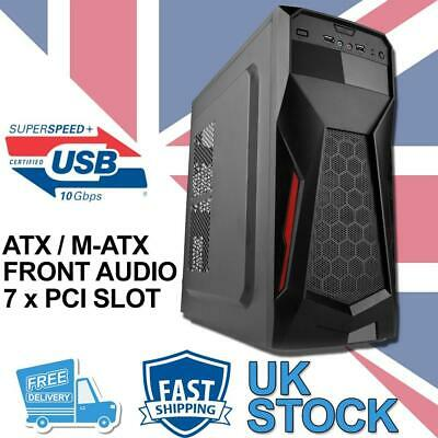 Gaming ATX / M-ATX Tower Computer PC Case - Black • 29.95£