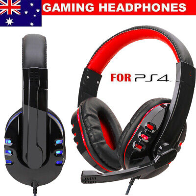 AU18.09 • Buy 3.5mm Stereo Wired Gaming Headset Headphone With Microphone For PC Xbox One PS4