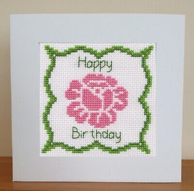 £6.95 • Buy Happy Birthday - Counted Cross Stitch Card Kit