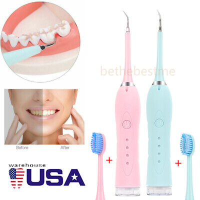 $18.89 • Buy Clean Oral Ultrasonic Tooth Cleaner Electric Teeth Stain Dental Cleaning Kit US