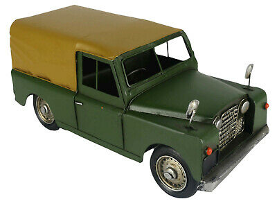 28.5cm Land Rover Series 1 Style Green Jeep Tin Plate Model Vintage Retro  • 24.50£