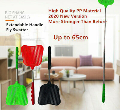 AU4.95 • Buy Big Fly Swatter Extendable Handle Telescopic Insect Mosquito Metal Up To 65cm