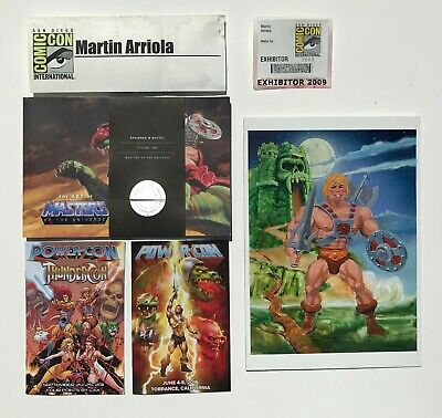 $1200 • Buy 2009 SDCC Exclusive Art Of MOTU & 9 X12  Original Gouache Painting W/ Misc Items
