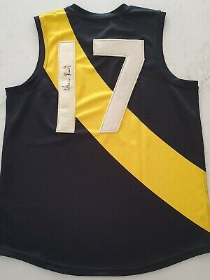 AU468 • Buy Maurice Rioli Signed Afl Size Large Football Guernsey Richmond Hall Of Fame