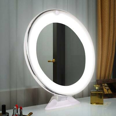 10X Cosmetic Light Mirror Make Up Magnified Round LED Cosmetic Mirror UK • 13.19£