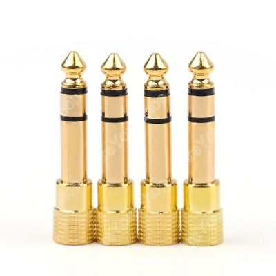 £2.33 • Buy 4 Pcs Adapter Gold Plug Audio Jack Trs 1/4  (6.3mm) To 1/8 Inch(3.5mm)