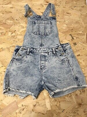 Girls Dungarees Age 11-12 Years Blue D151 • 8.99£