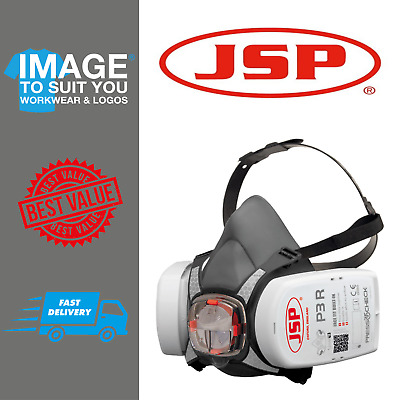 JSP Force 8 (Medium) Protective Safety Mask P3 PressToCheck Filters Included • 29.99£