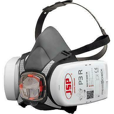 JSP Force 8 (Medium) Protective Safety Mask P3 PressToCheck Filters Included • 19.49£