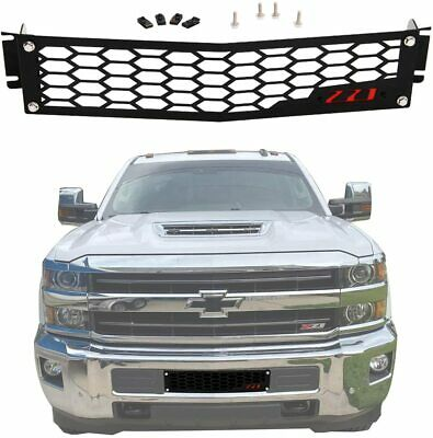 $58.66 • Buy Front Bumper Grille Insert For 15-19 Chevy Silverado 2500/ 3500HD Black Coated
