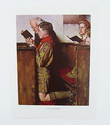 $ CDN20.75 • Buy Vintage 1960's Norman Rockwell A Scout Is Reverent Boy Scout Print