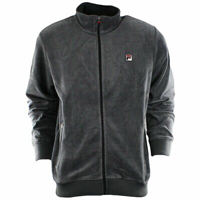 $39.99 • Buy Fila Velour Jacket Mens Charcoal Gray New With Tags LM143KE6-074 NEW WITH TAGS