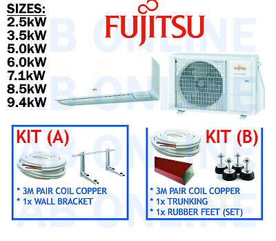 AU2720 • Buy Fujitsu Split System Inverter Reverse Cycle Air Conditioning Bracket Aircon