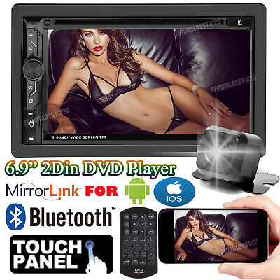 $131.20 • Buy Double Din Car Stereo DVD+Backup Camera Touch Screen Radio Mirror Link For GPS