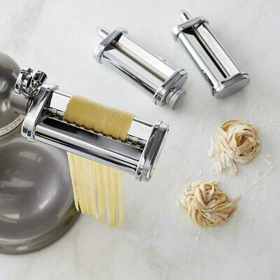 £33.15 • Buy Stainless Steel Pasta Roller & Cutter Set Attachment For KitchenAid Stand Mixers