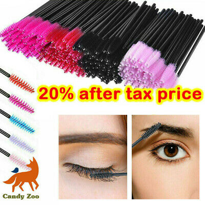 1/30/50/100 X Disposable Mascara Wands Eyelash Brushes Lash Extension Applicator • 5.49£