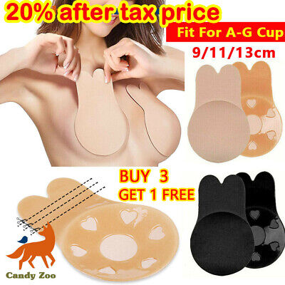 Invisible Silicone Breast Pads Lift Up Nipple Covers Bra Tape Sticker Rabbit Bra • 2.89£