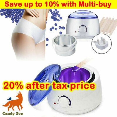 Professional Full Waxing Wax Heater Painless Hair Removal Tool Set Salon Home • 16.99£