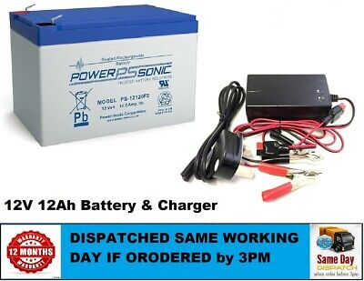 Toy Car Battery & Charger Combo -  12V 12ah Battery & 12 Volt Mains Charger • 39.40£