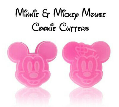 Disney Minnie & Mickey Mouse Cookie Cutter 2 Pieces - Fast Free Post • 2.99£