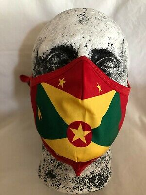 £6.99 • Buy Grenada Flag Face Mask Adjustable Washable Reusable With Pm2.5 Layered Filter