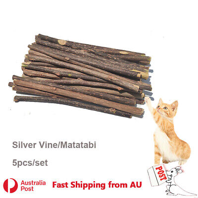 AU6.99 • Buy 5x Silver Vine Sticks Cat Chew Dental Dry Matatabi Toy Kitten Clean Tooth Health