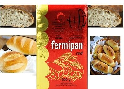 Fermipan Red - 500g - Instant Dried Yeast For Bread Bakery Expiry 06.2022 • 15.20£