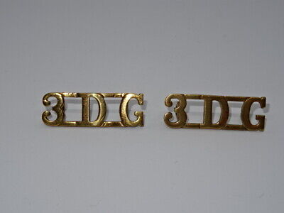 British Military Brass Pair Of Shoulder Titles Badges 3rd Dragoon Guards • 19.95£