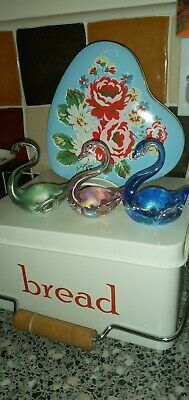 Iridescent / Oil Slick Glass SWAN By HERON GLASS In BLUE ( Others 4 Sale )  • 14.99£