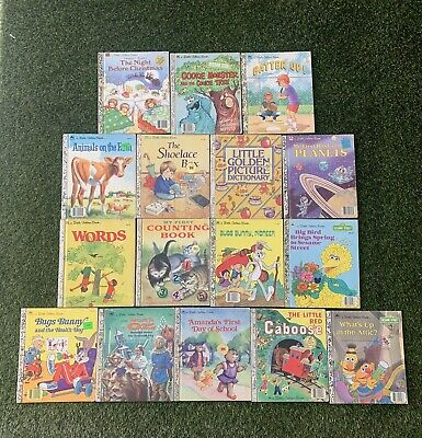 £12.78 • Buy Vintage A Little Golden Book Lot (16 Books)