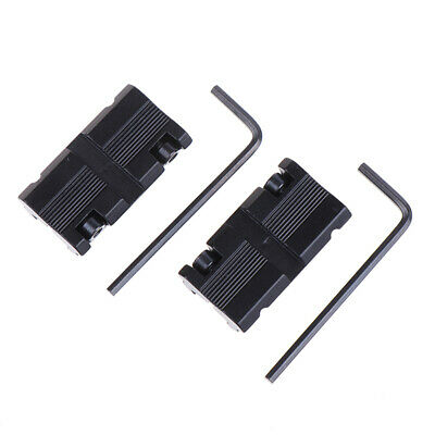 2x11mm Dovetail To 20mm Weaver Picatinny Rail Adapter Mount Scope Mounts Base~EJ • 7.25£