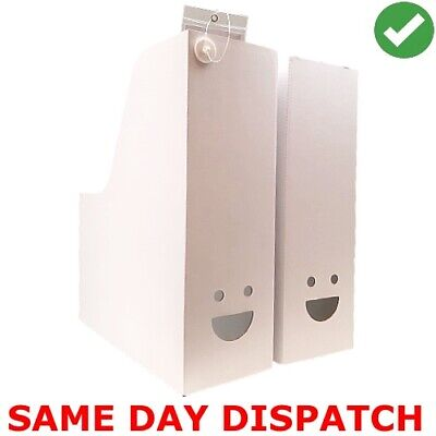 Ikea Fluns White Magazine Office File Organiser Holder Paper Storage Box Folder • 5.80£