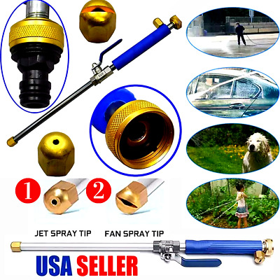 2IN1 High Pressure Power Washer Water Spray Gun Nozzle Wand Attachment USA STOCK • 14.49£