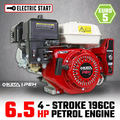 AU205 • Buy 6.5HP OHV Petrol Engine Stationary Motor Horizontal Shaft Electric Start Recoil