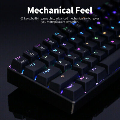 AU59.99 • Buy MOTOSPEED CK61 RGB Mechanical Gaming Keyboard Backlit Blue Red Switches 61 Keys