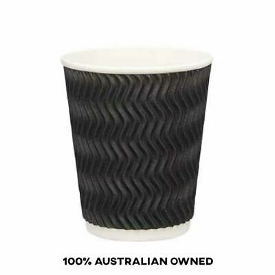 AU14.75 • Buy Coffee Cups 8oz Takeaway Paper Ripple Wall 50 Pack Without LIDS