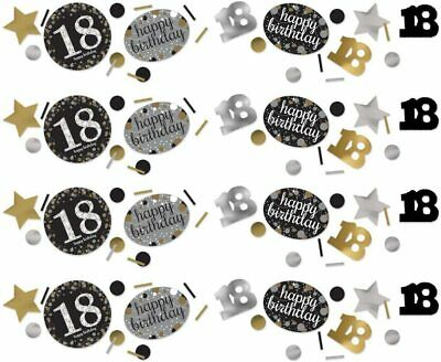 18TH To 70th Birthday Confetti Table Decoration Black Silver Gold Party  • 3.19£